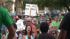 Occupy Wall Street: Robin Hood Was Right Stock Footage