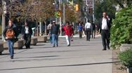 Stock Video Footage of University Ave. People