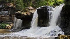 Alongside Waterfall Loop Stock Footage
