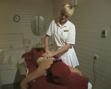 Massage at health club Stock Footage