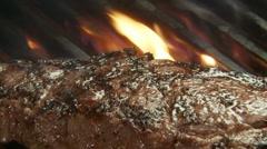 Steak grilling 155 Stock Footage