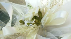 Two artificial flowers Stock Footage