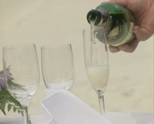 Close up of champagne being poured Stock Footage
