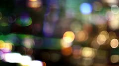 Night lights new york skyline manhattan NYC ny Stock Footage