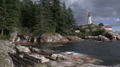 Canada: Lighthouse at Light House Park Stock Footage