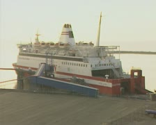 Docked ferry Stock Footage