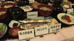Fake Food 2 - Japanese Style of Menu - stock footage