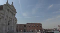 Timelapse tourist people visit Venice church, Venice, Italy landmark icon Stock Footage