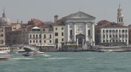 View of Venice church, Venice, Italy Stock Footage
