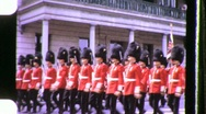 Red Coats Soldiers Military Canadian Parade 1970s Vintage Film Home Movie 972 Stock Footage