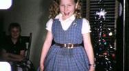 Little Girl Dancing Ballet Practice Ballerina 1950s Vintage Film Home Movie 974 Stock Footage