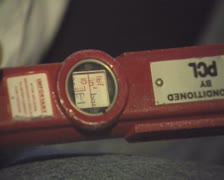 Close up of tyre pressure dial Stock Footage