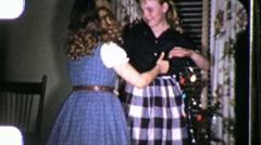 Girls Dancing Ballerina Circa 1955 (Vintage 8mm Home Movie Footage) 975 - stock footage