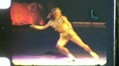 Pretty Dancing Young Woman Ice Show Skating 1940s Vintage Film Home Movie 978 Stock Footage