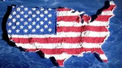 Yhdysvaltain kartta, loitontaa, vierekkäisiä Arkistovideo