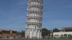 Leaning Tower and the Square of Miracles, Cathedral Square, Pisa, Italy Stock Footage