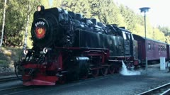 Old Steam Locomotive with working driver 20111016 141516 Stock Footage