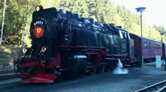 Working on an old Steam Locomotive 20111016 141553 Stock Footage