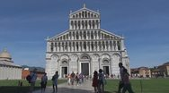 Stock Video Footage of People around the Cathedral of Pisa, Pisa, Italy