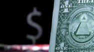 Money, one dollar and dollar symbol Stock Footage