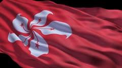 Hong Kong flag ripple Stock Footage