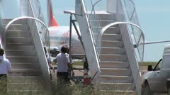 Airplane 12 - Airplane Taxing, Brazilian airport  Stock Footage
