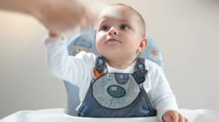 Baby and money Stock Footage