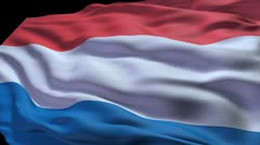 Netherlands flag ripple Stock Footage