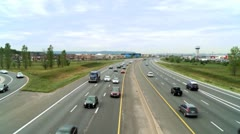 Busy Freeway - stock footage