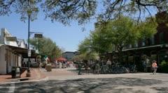 City market area in Savannah, Ga Stock Footage