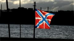 Flag of the Russian Navy Stock Footage
