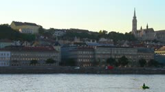Budapest Hungary Buda View Stock Footage