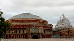 Royal Albert Hall, London TimeLapse Stock Footage