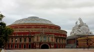 Royal Albert Hall, London TimeLapse Stock Footage