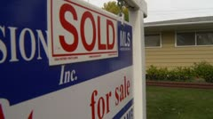 Real estate, sold house Stock Footage