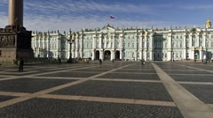 The Hermitage Museum, St. Petersburg, Russia (Hyper-Lapse) - stock footage