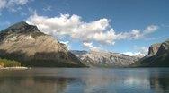 Banff National Park, Lake Minnewanka in late summer Stock Footage