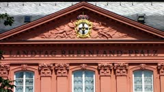 Mainz Landtag parliament Rhineland-Palatinate Germany - stock footage