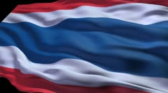 Thailand flag ripple Stock Footage