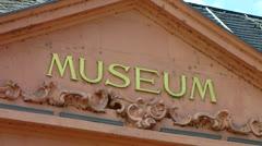 Mainz Landesmuseum museum Rhineland-Palatinate Germany - stock footage