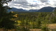 Banff National Park, Bow Valley in late summer, fall colours Stock Footage