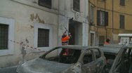 Stock Video Footage of Roman council workers clean up Rome after riot