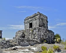 Tulum Mayan Ruin Timelapse Stock Footage