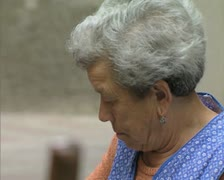 Close up of old woman talking Stock Footage