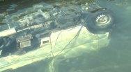 Japan Tsunami Aftermath - Van Lies Submerged In Sea In Kesennuma City Japan Stock Footage