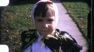 Children in Halloween Costumes Circa 1957 (Vintage 8mm Home Movie Footage) 1018 Stock Footage
