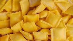 Pasta background : ravioli Stock Footage