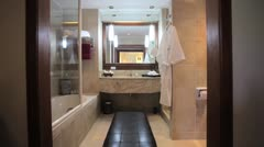 INTERIOR DESIGN BATHROOM  - stock footage