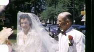 Stock Video Footage of BEAUTIFUL Bride PROUD FATHER Before Wedding 1955 Vintage Film Home Movie 1024