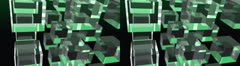 3 x 3 Cube Matrix, Stereo 3D HD Stock Footage